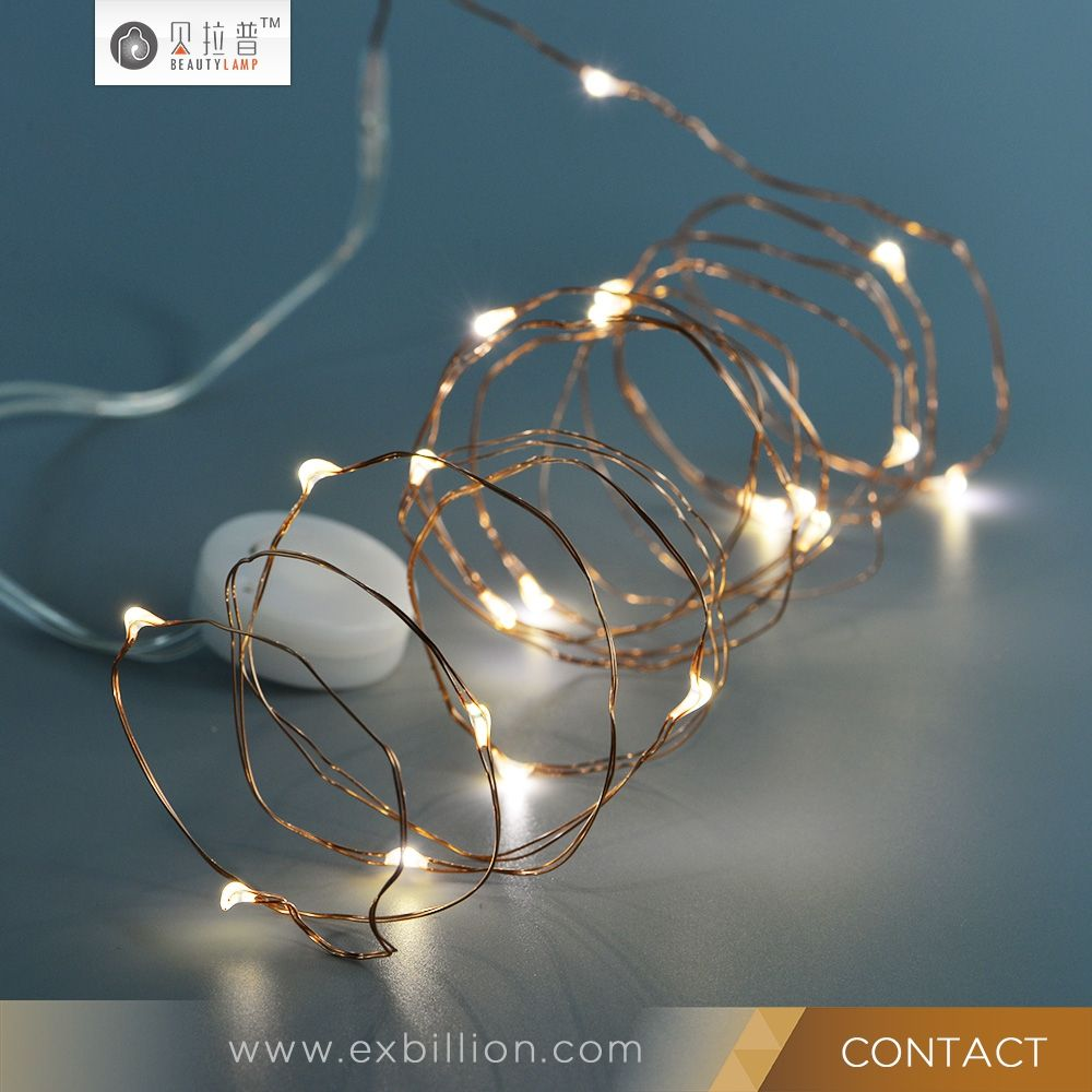 Battery operated led copper wire fairy string lights with battery ...