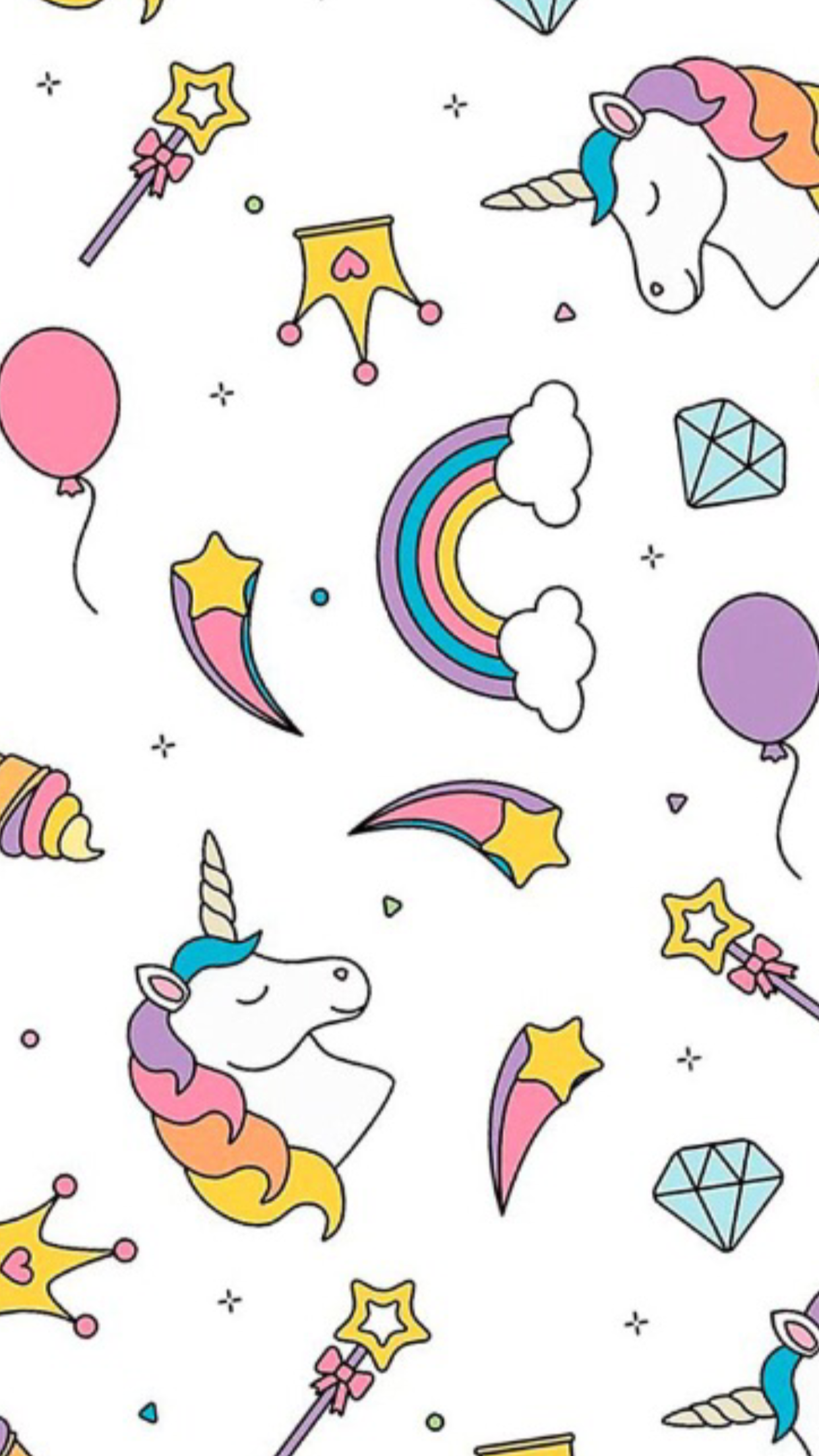 Pin By Kisses Ramos On Iphone Wallpapers Unicorn Pattern