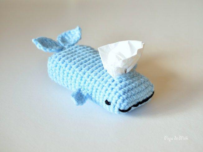Whale Tissue Cozy 3- Pops de Milk