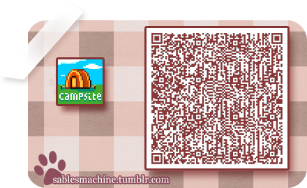campsite sign animal crossing new leaf qr code animal