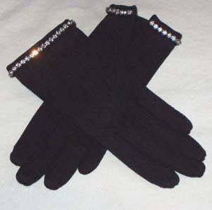 Elsa Schiaparelli gloves with rhinestones, 1950s.