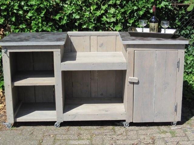 buitenkeuken van steigerhou gartenk che in 2019 outdoor k che k che und garten. Black Bedroom Furniture Sets. Home Design Ideas