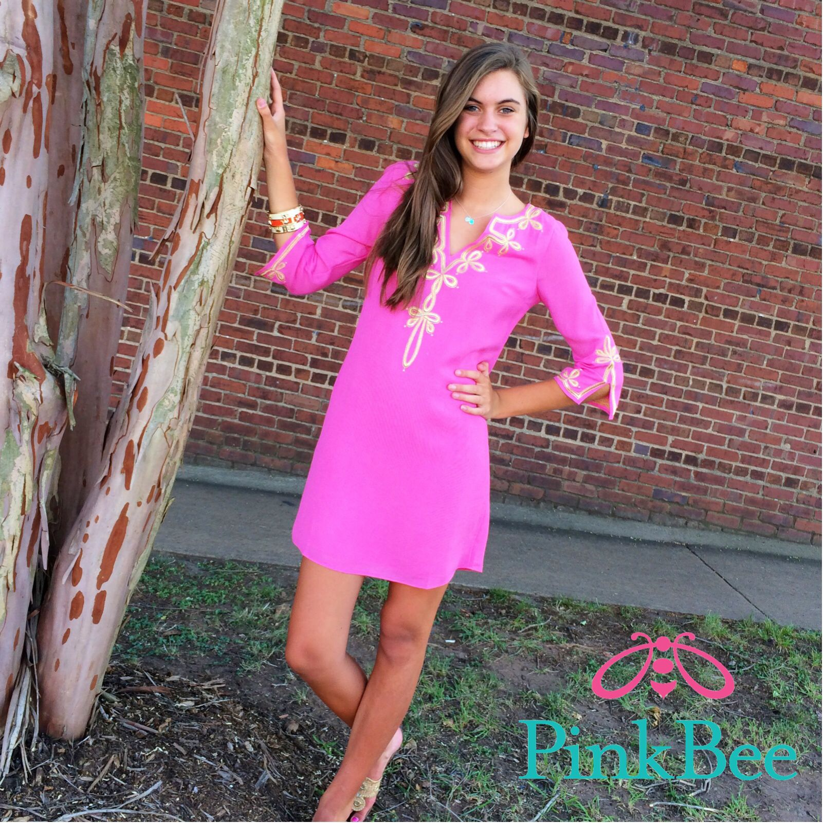 Lilly Pulitzer | Pink Bee Copeland Tunic Dress | Lilly Pulitzer ...