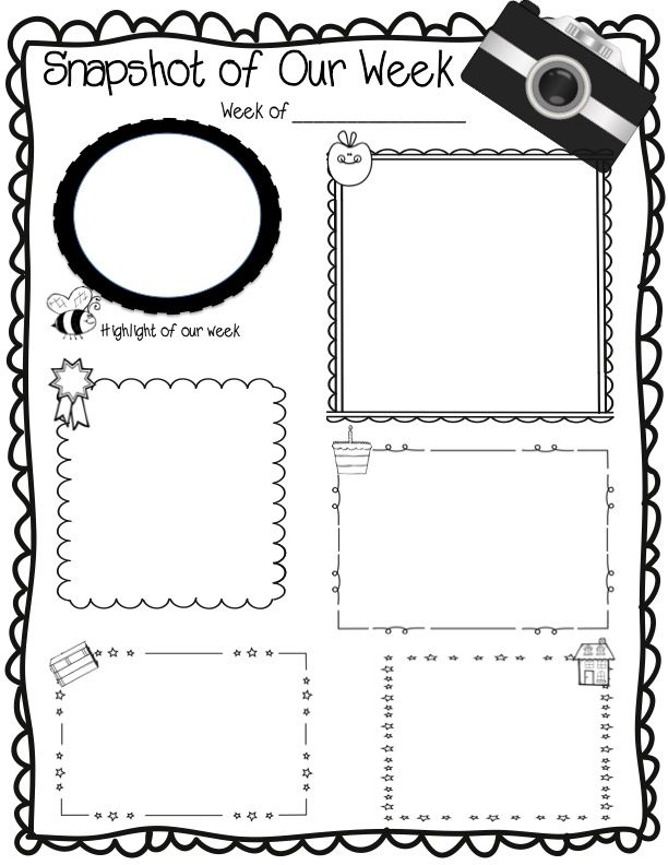 Snapshot Of Our Week Weekly Newsletter Template editable Parent - newspaper templates for kids