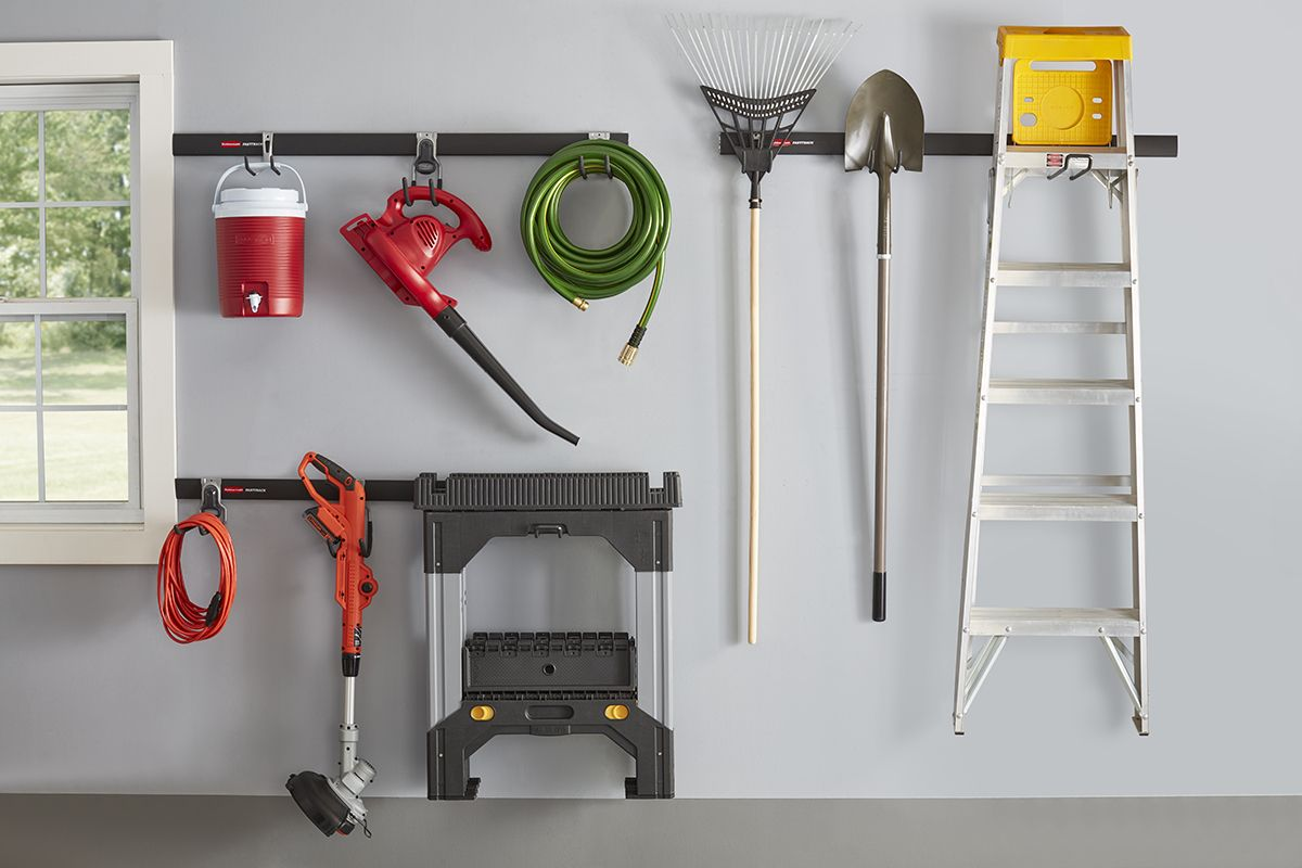 Make Sure Your Garage Is Ready With Rubbermaid Fasttrack Garage At Lowes Garageorganization Organize Garage Homeorg Rubbermaid Garage Storage