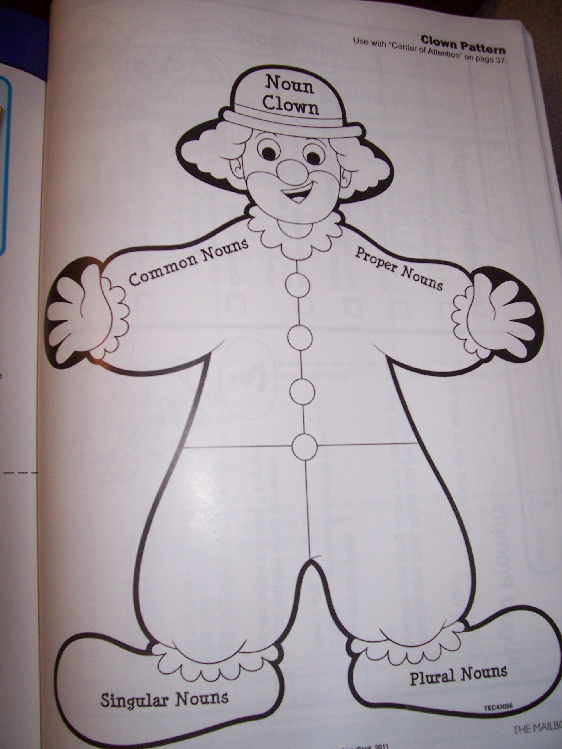 We Made This Noun Clown In Our Second Grade Classroom To