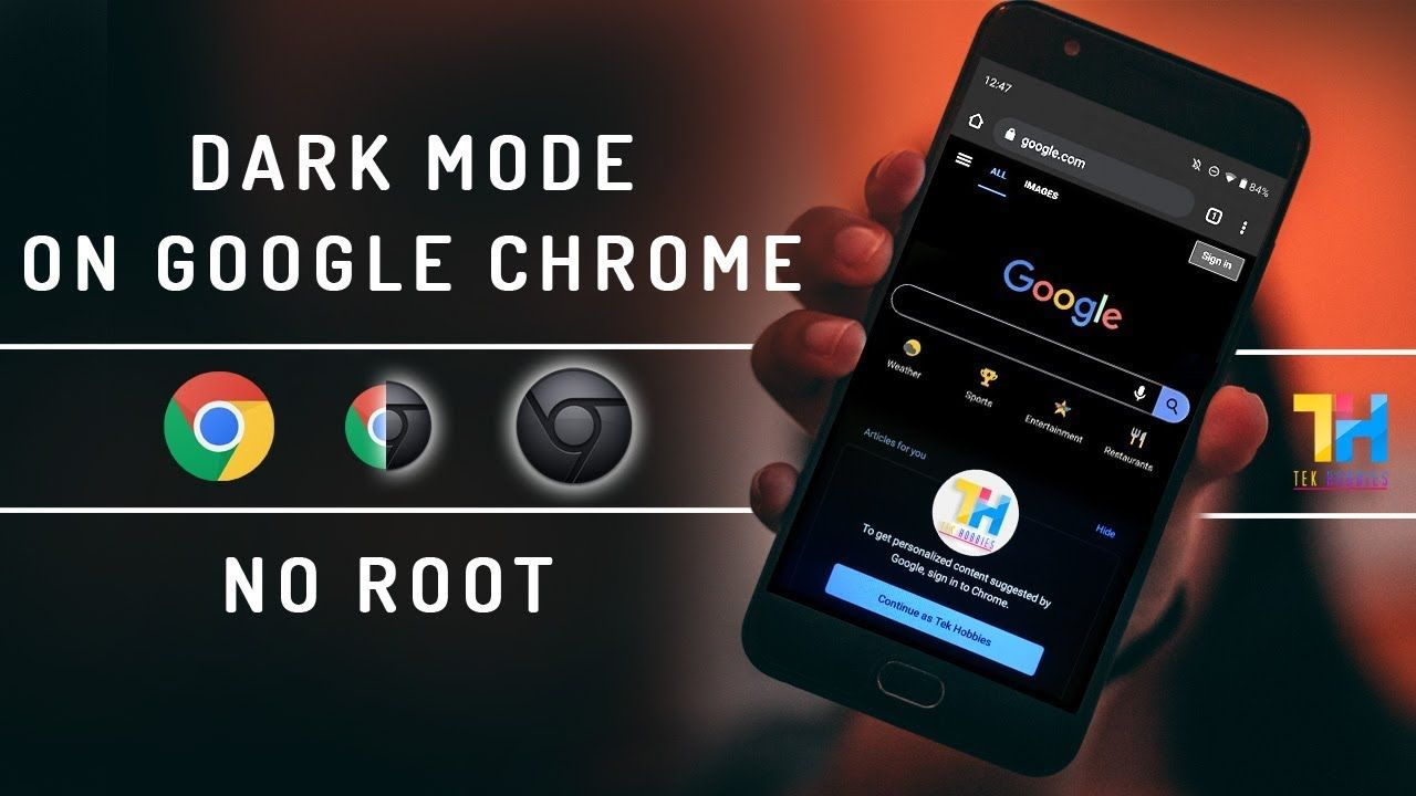 Enable Dark/Night Mode in Google Chrome any AndroidNo