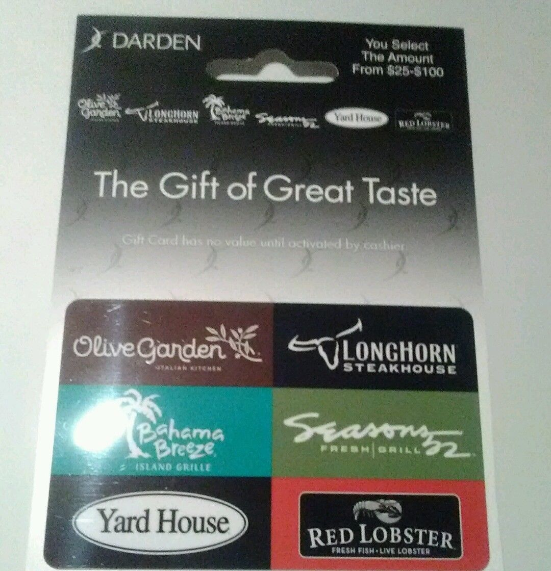 Can You Use Red Lobster Gift Cards At Olive Garden Gift Card Ideas