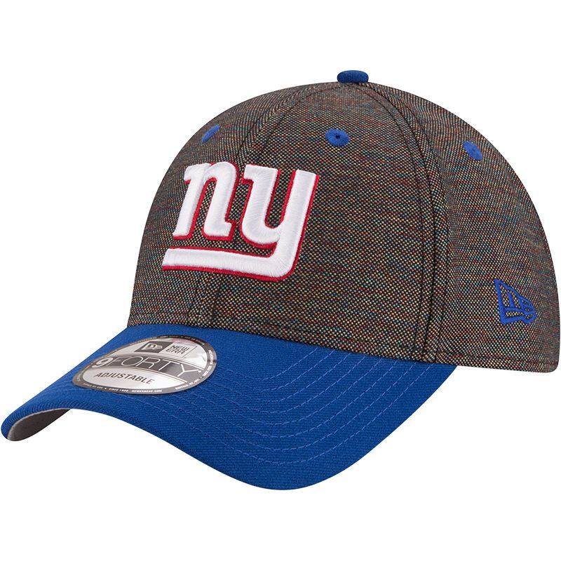 new product 68682 a11f4 New York Giants New Era Vivid Crowner 9FORTY Adjustable Snapback Hat -  Black Royal