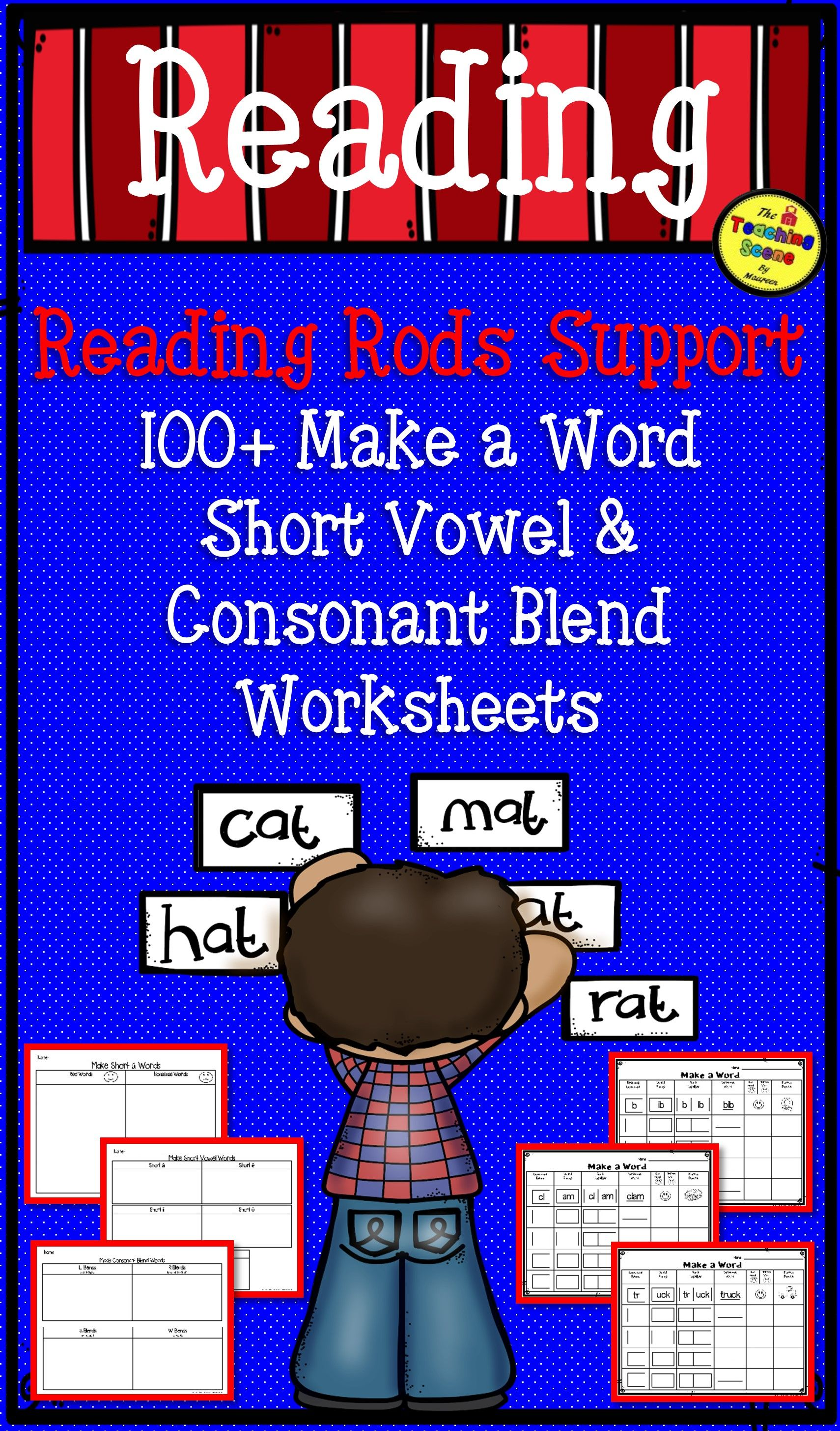 Reading Rods Or Tiles Support Make A Word Phonics