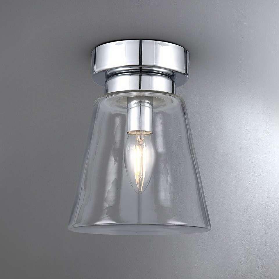 Delavin Bathroom Gl Flush Light