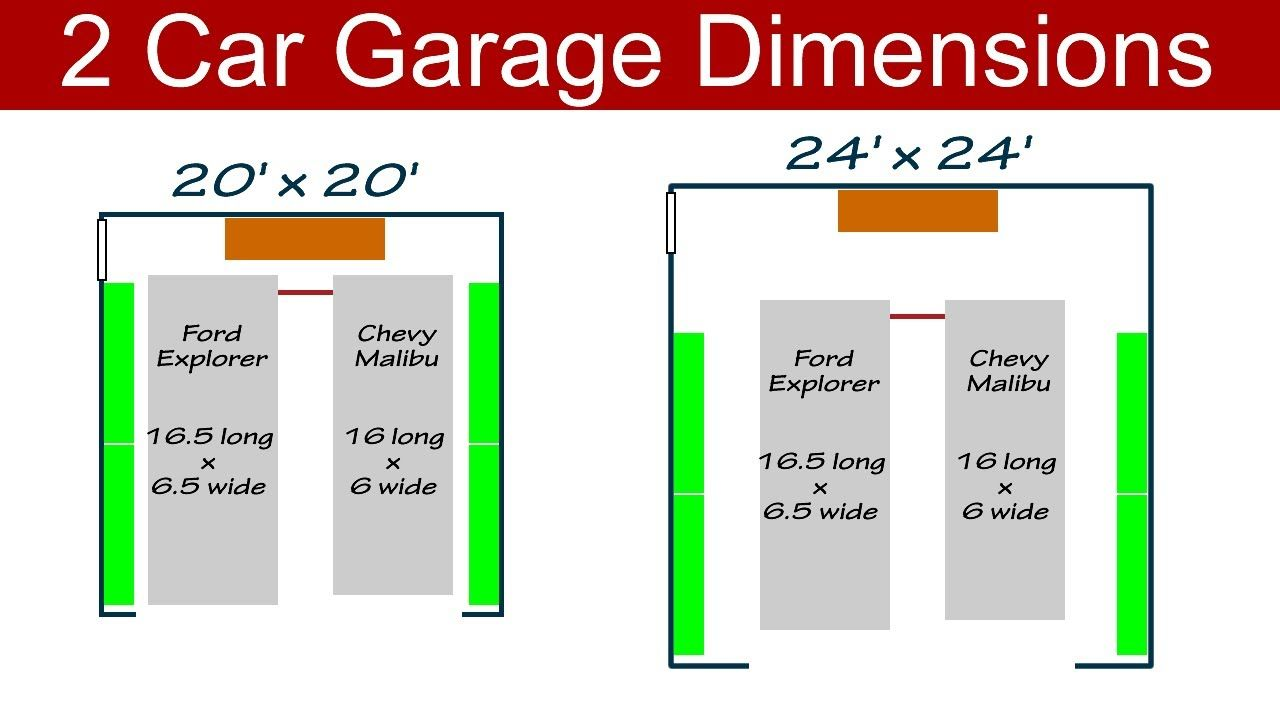 Ideal 2 Car Garage Dimensions Garage dimensions, Garage
