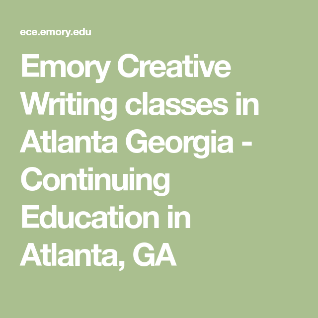 creative writing emory