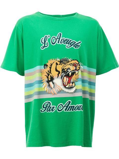 9f6954e2 GUCCI vintage tiger print T-shirt. #gucci #cloth #t-shirt | Gucci ...