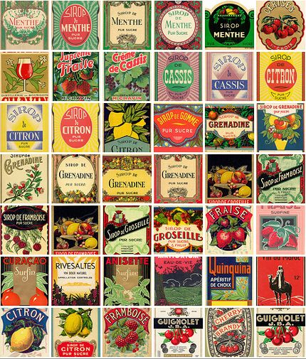 vintage can labels printable