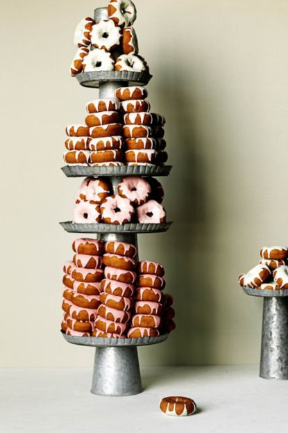 The DIY by Maggie Ruggiero, food stylist. Store bought doughnuts with custom icing. #BHLDN #Explore #Cake