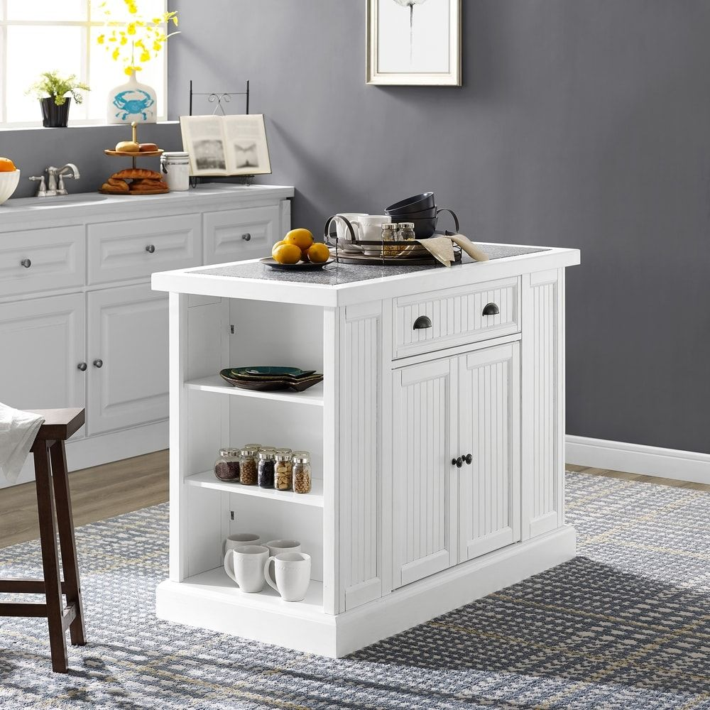 Shop Seaside Kitchen Island In White - Free Shipping Today ...