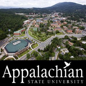 Appalachian State University. So excited to be here in the