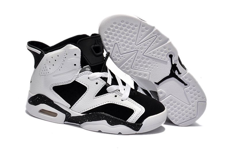 pretty nice d3d7e 4c27e Kids Jordan 6 Retro Oreo White Black | Kids Jordan 6 in 2019 ...
