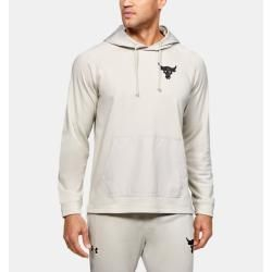 Under Armour Herren Project Rock Hoodie aus French Terry Weiß Xl Under Armour