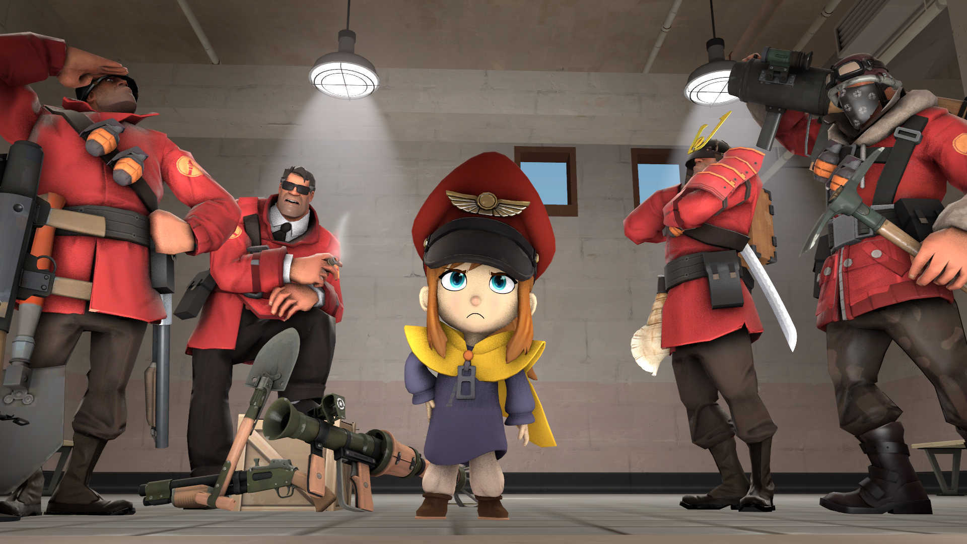 Leader Png 1920 1080 A Hat In Time Tf2 Memes Cute Games