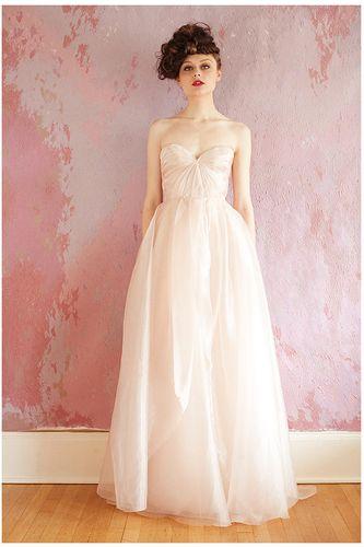 Blush Wedding Gowns - Pink Bridal Dresses | Pale pink weddings ...