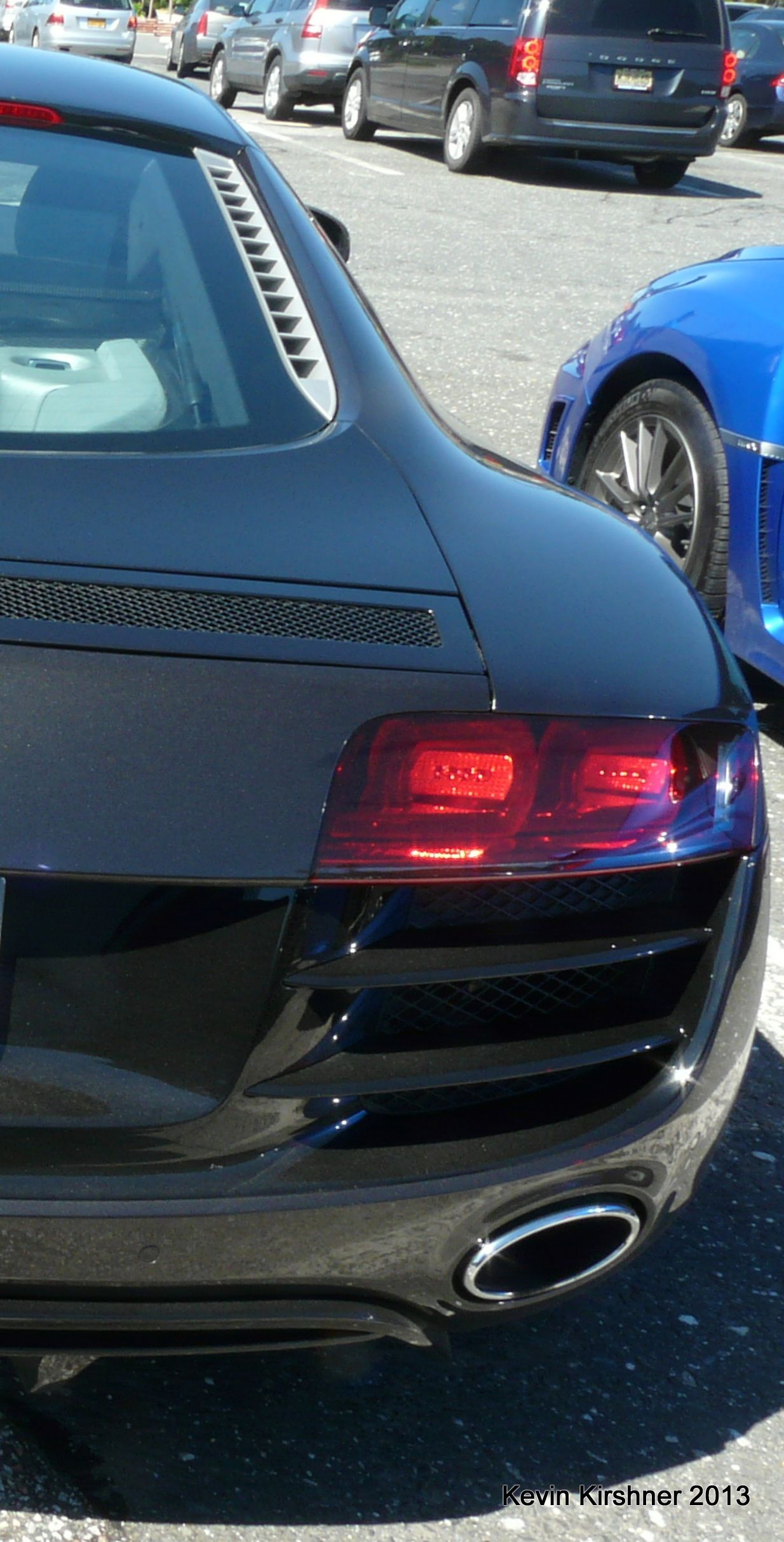 This photo of an Audi R8 captured in Charlton MA on the MASS Pike ...