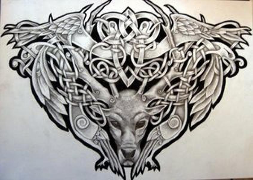 Winning Design For Yggdrasil Norse Mythology Half Sleeve