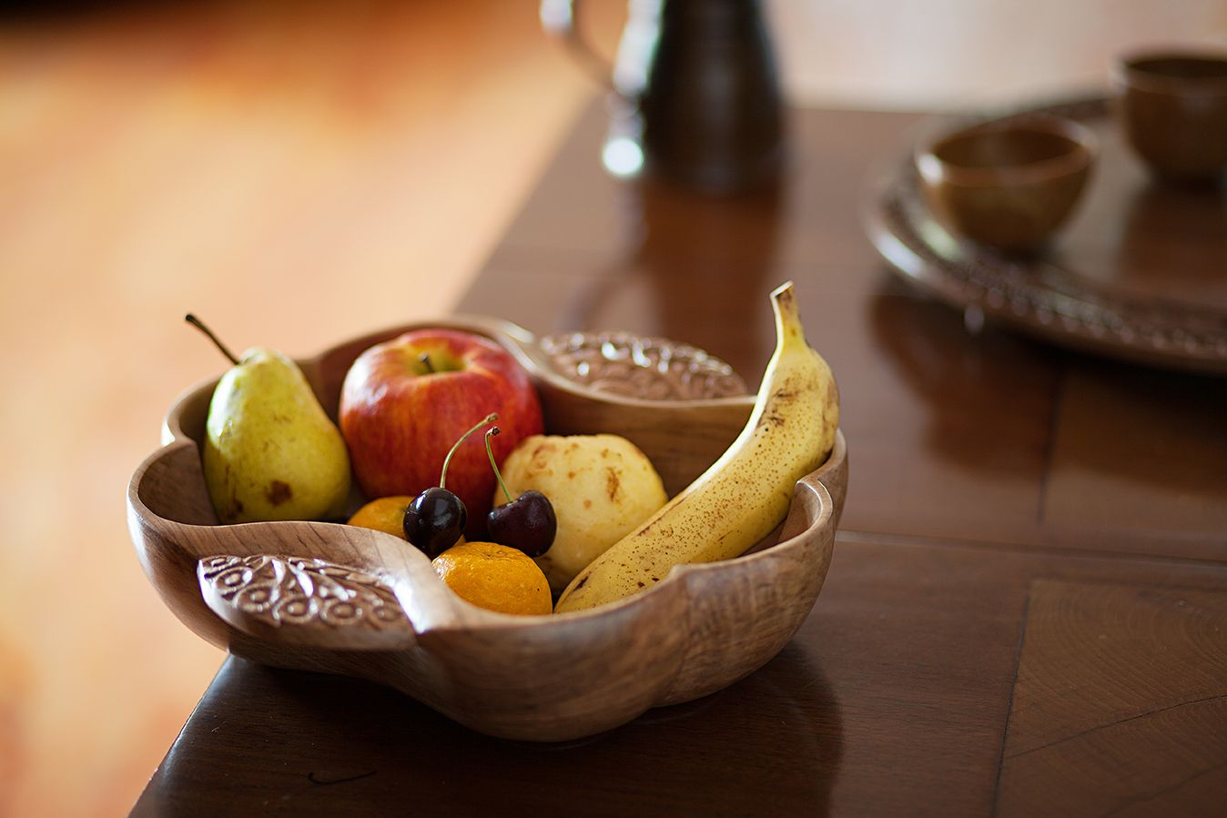 From Our Walnut Wood Collection This Fruit Bowl Is An Simple And