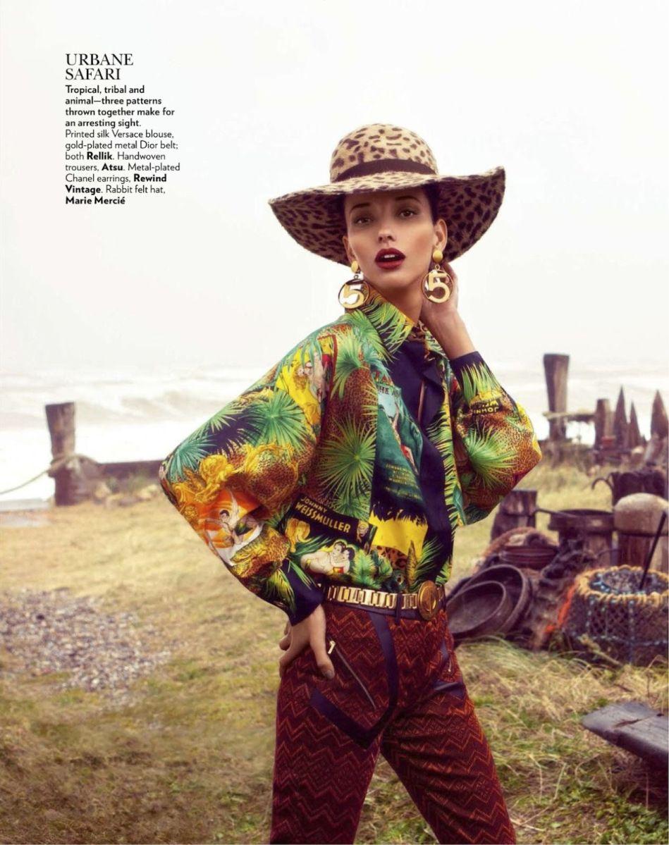 Vogue India July 2013 Daniela Alves by Grant Thomas