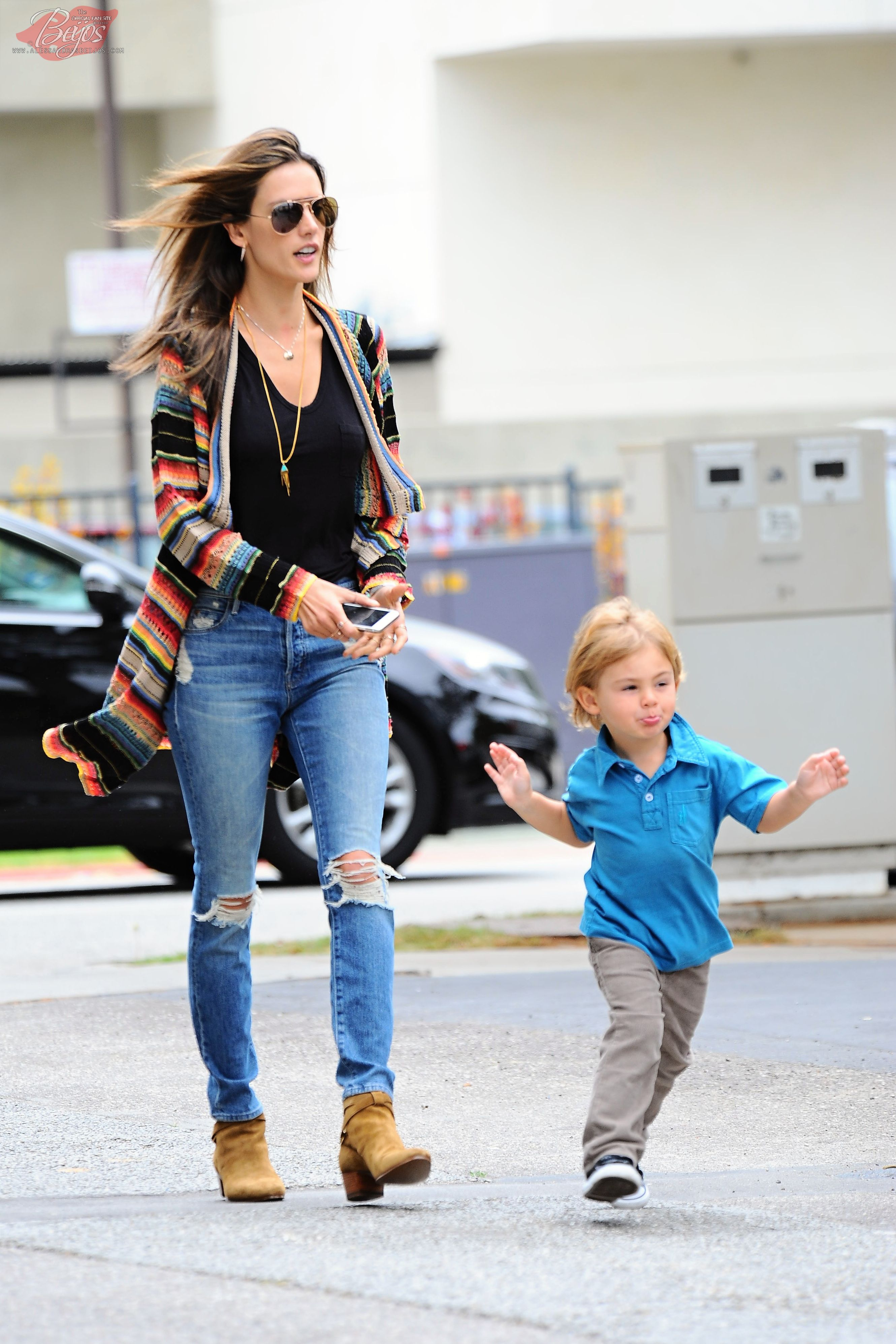 Alessandra Ambrosio spotted picking up her son in Los Angeles, CA - April 24, 2015