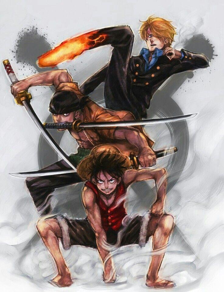 Luffy Zoro And Sanji The Monster Trio One Piece Luffy One Piece Anime One Piece Manga