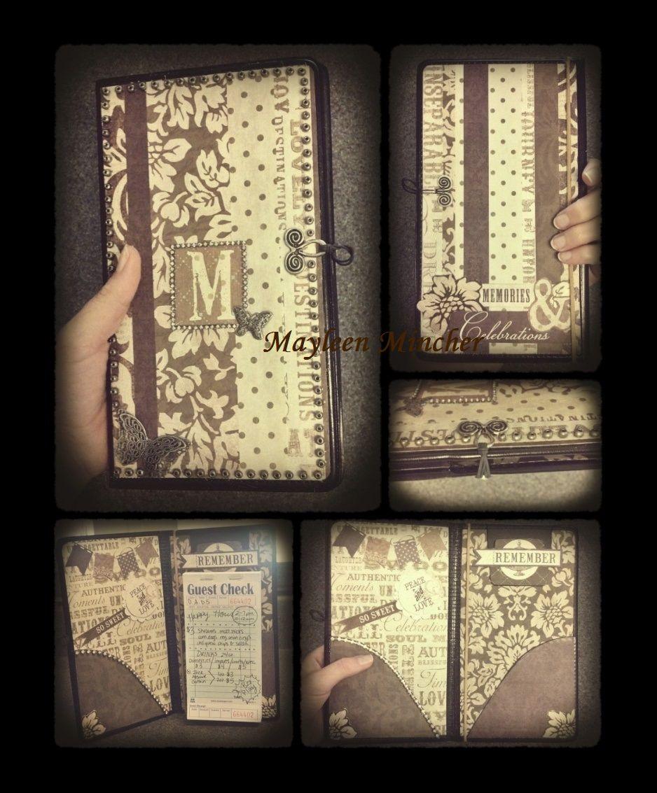 Scrapbook paper booklet - Decorated My Server Book With Scrapbook Paper Mayleen Mincher Server Book Checkbook Waitress Diy