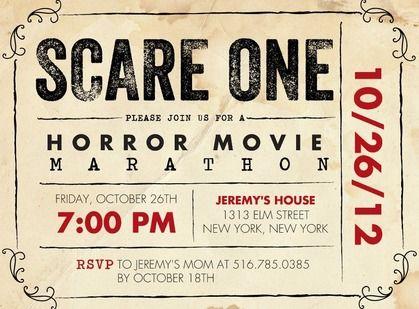 scary movie party invitations Invitation Ideas – Scary or Horror Invitation Cards