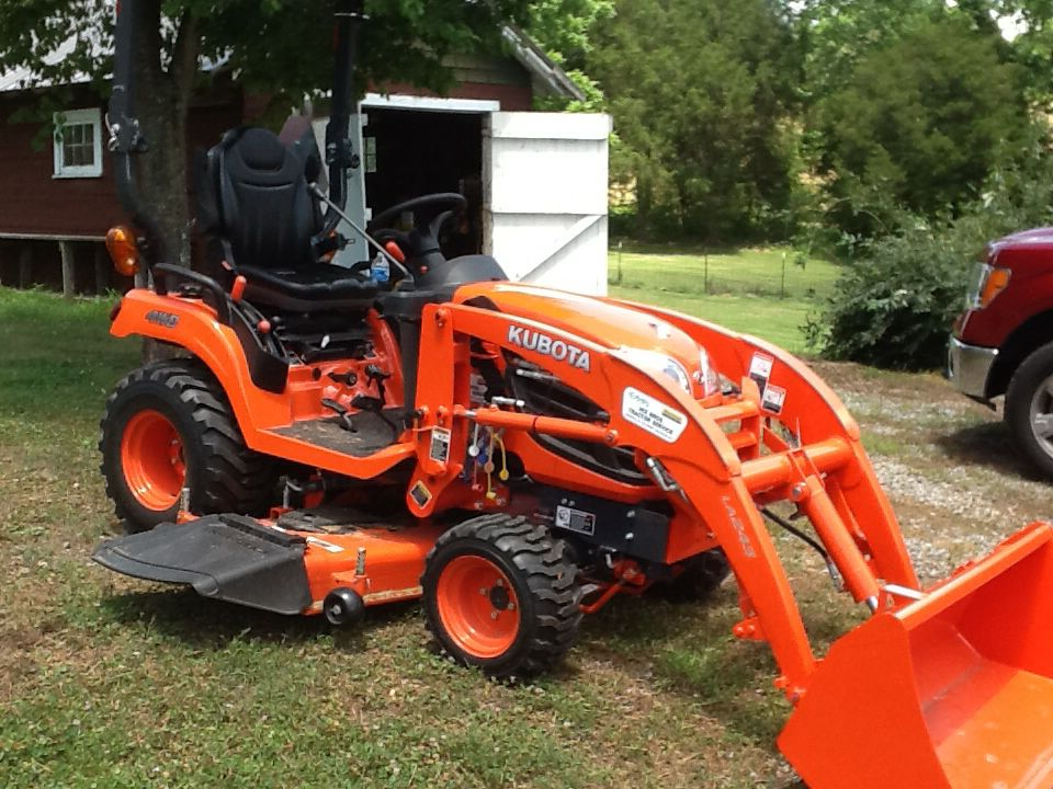 My new Kubota compact tractor with 60