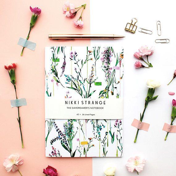 Fleur Botanique A5 cuaderno con páginas alineadas | Cuadernos ...