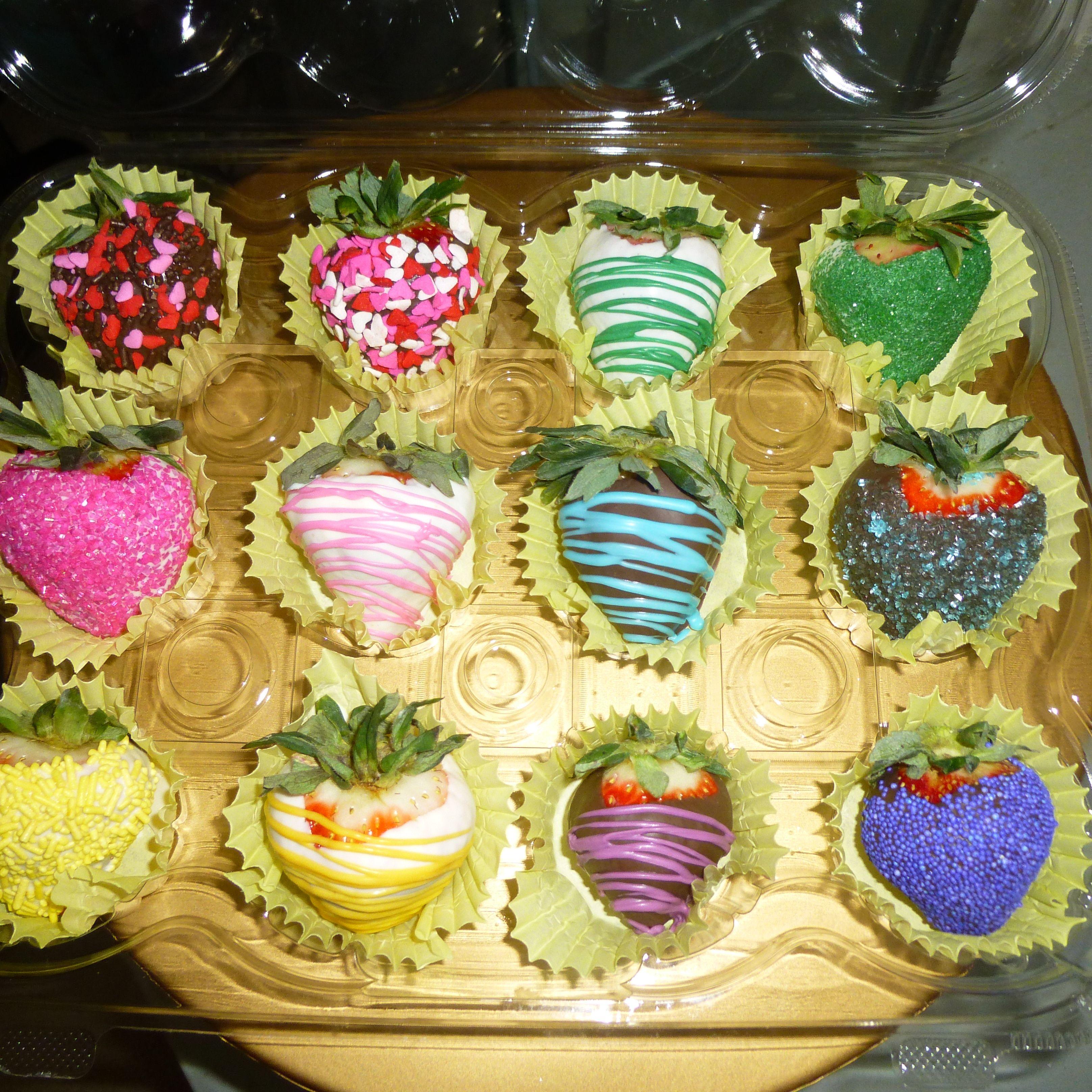 Rainbow chocolate covered strawberries...#mondaymust | by ... |Rainbow Chocolate Covered Strawberries
