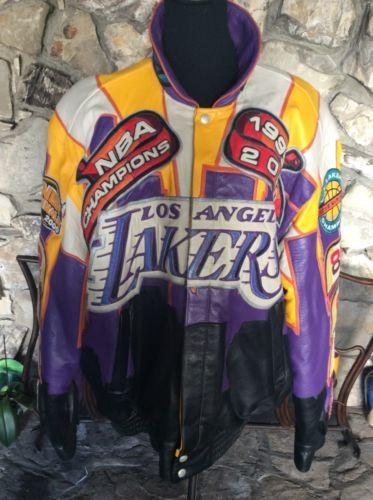 2000 Lakers Jeff Hamilton Nba Championship Leather Jacket Limited Xl Jackets Leather Jacket Nba Championships