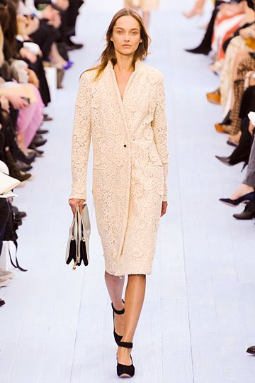 Lace coat at #Chloe.  #Paris #FashionWeek