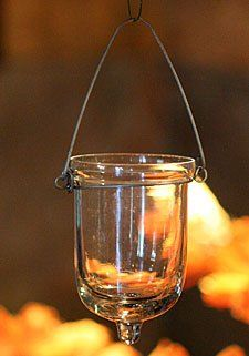 Wonderful Amazon.com: Hanging Tealight Holder Set Of 6 Clear Glass   3 Inches: