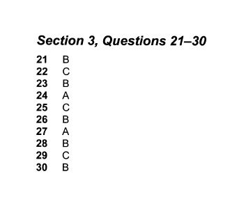 Cambridge IELTS Book 9, Test 1, Section 3, Answers 21 - 30