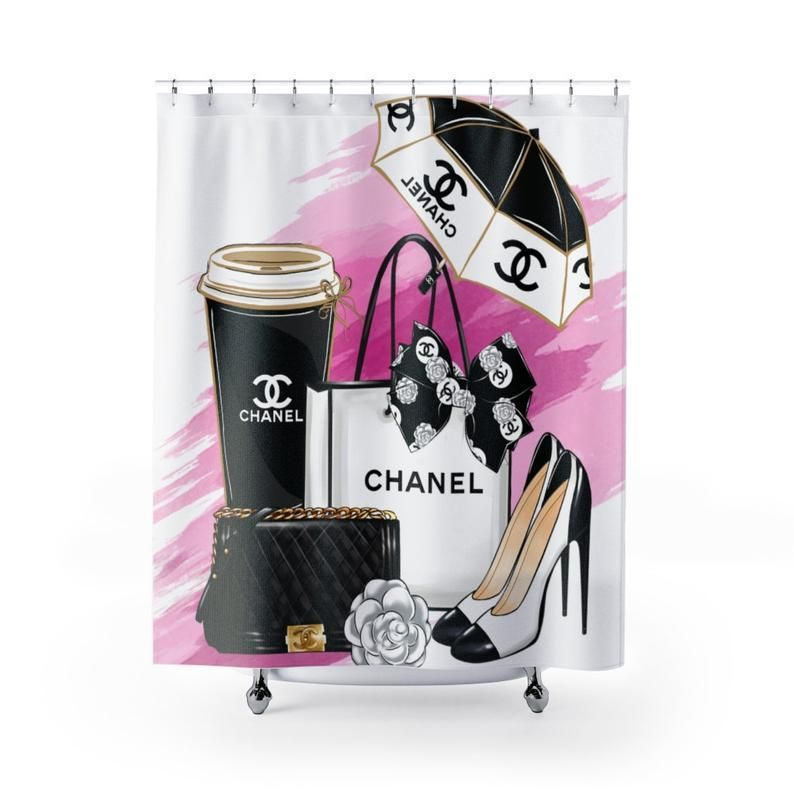 coco chanel shower curtain set shower