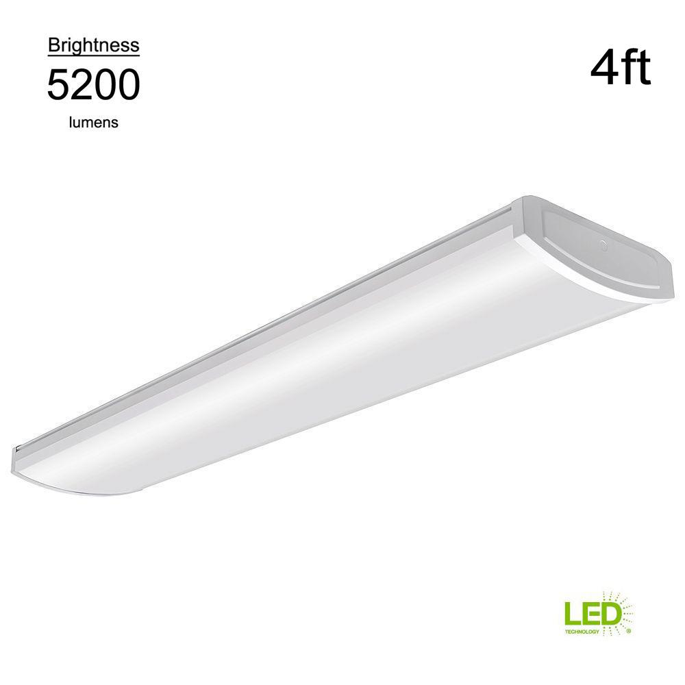 Commercial Electric High Output 4 Ft White 5200 Lumen