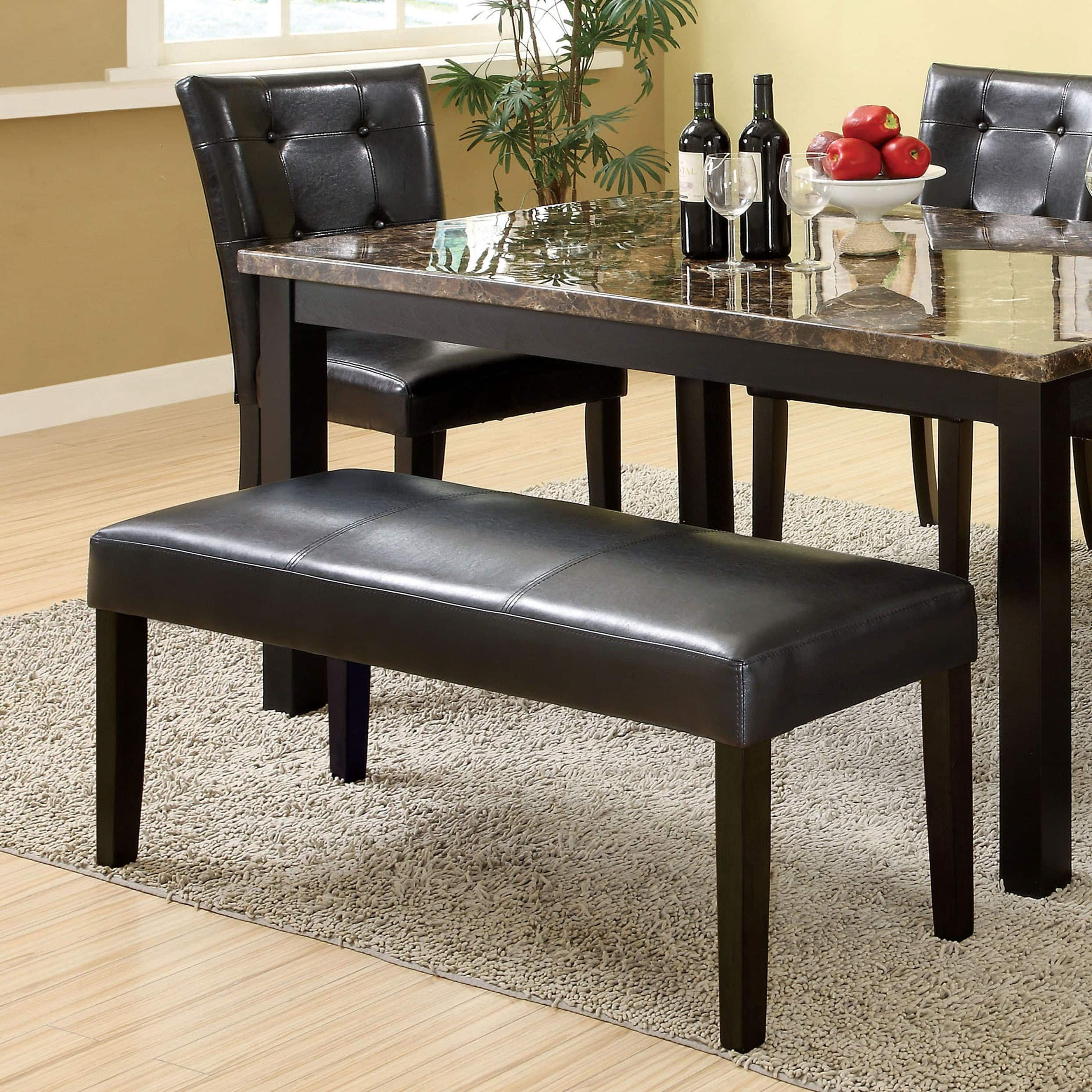 Fabulous Furniture Of America Perthien Leatherette Black 44 Inch Ibusinesslaw Wood Chair Design Ideas Ibusinesslaworg