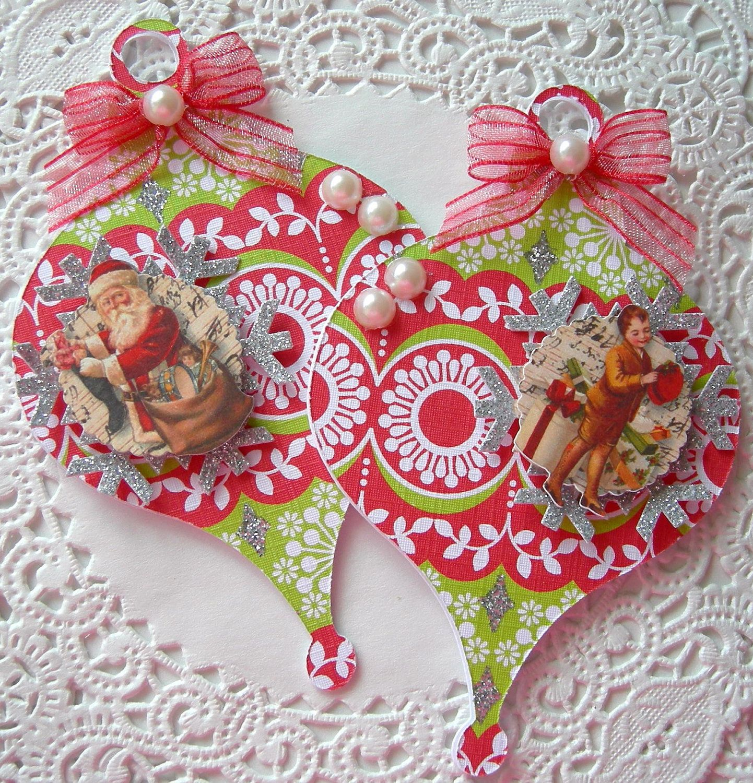 handmade christmas ornaments   Handmade Christmas Ornament Embellishments by sarasscrappin