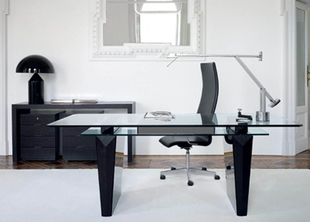Black And White Home Office Furniture   Interior Design, Architecture .