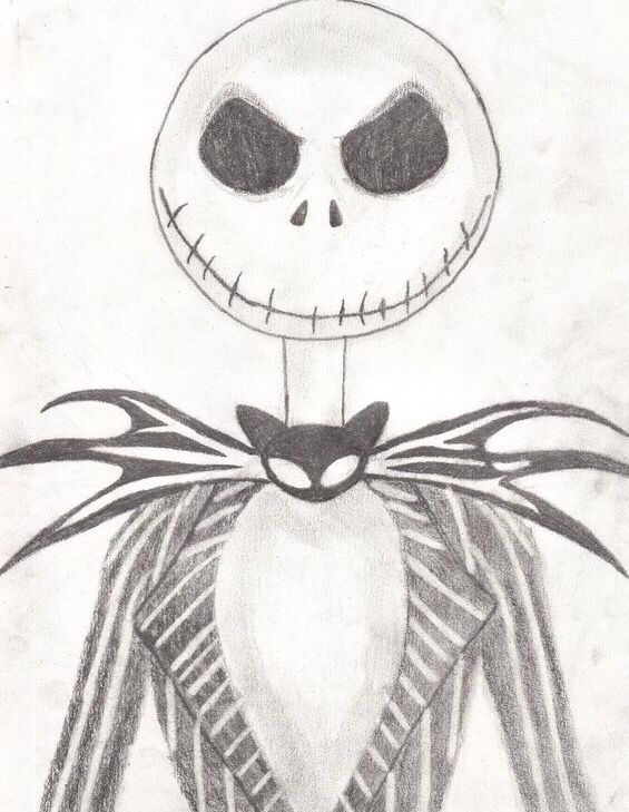 Nightmare Before Christmas Draws Pinterest Skeleton Drawings