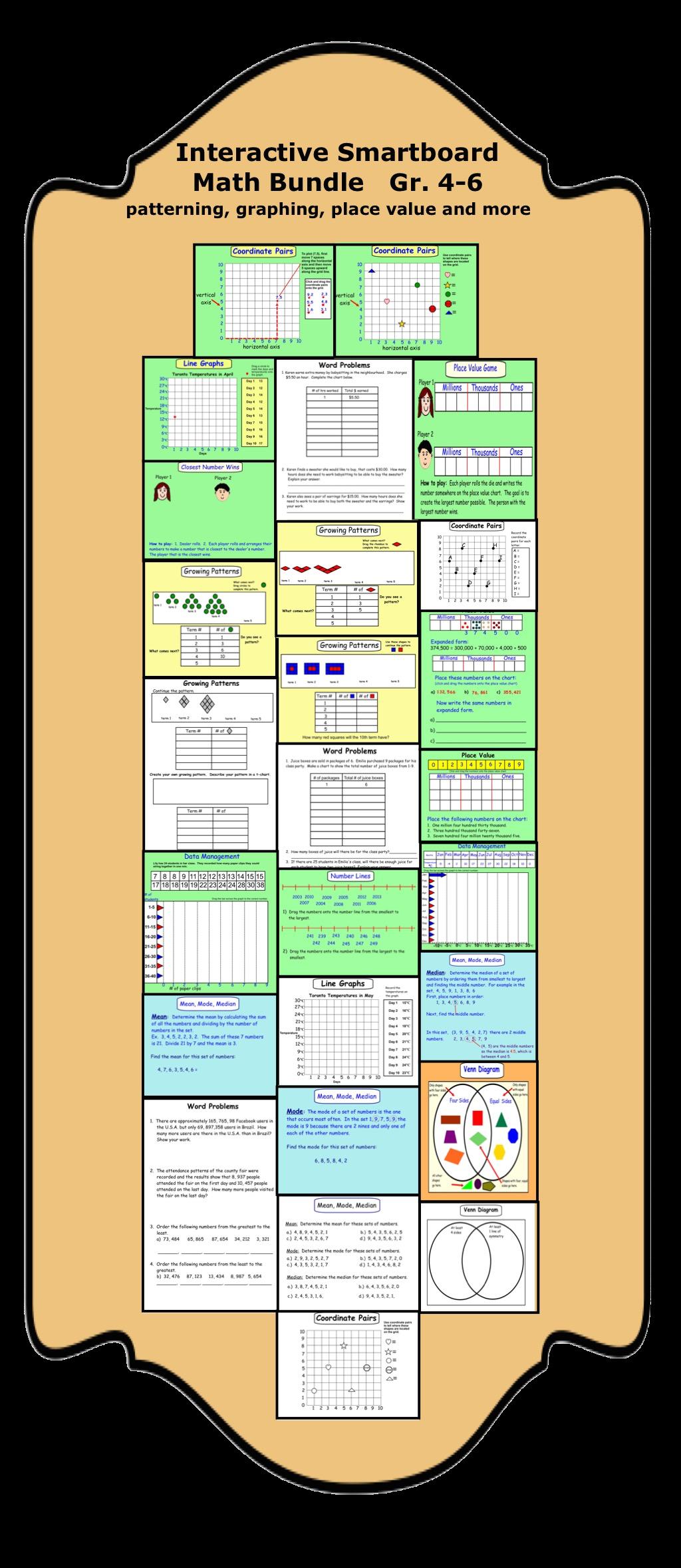 interactive smartboard math gr  4