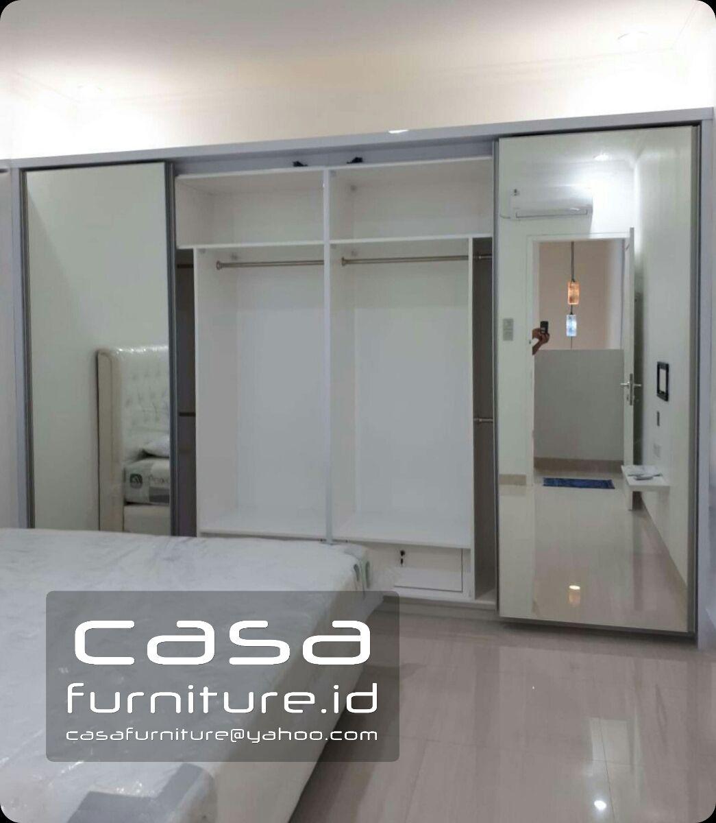 Lemari Baju Aluminium 3 Pintu