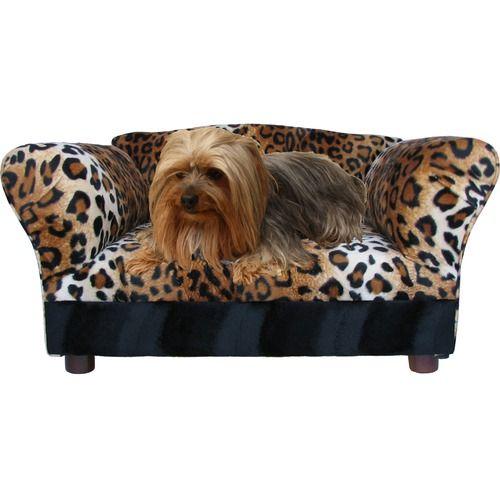 Fantasy Furniture Mini Sofa Pet Bed Leopard Print Dog Sofa Bed Dog Bed Furniture Pet Sofa